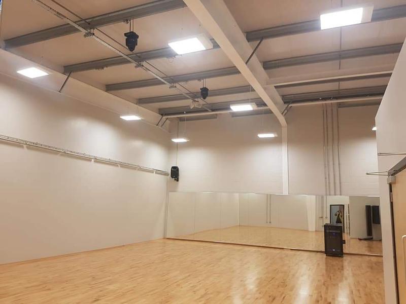 Image 19 - Dance studio lighting; power; fire alarm and AV installation.