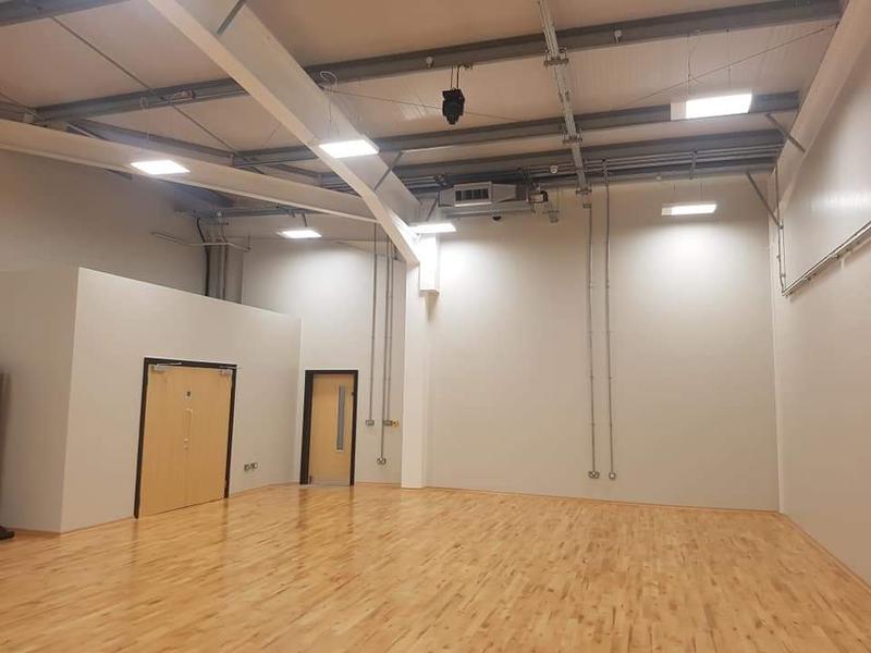 Image 20 - Dance studio lighting; power; fire alarm and AV installation.