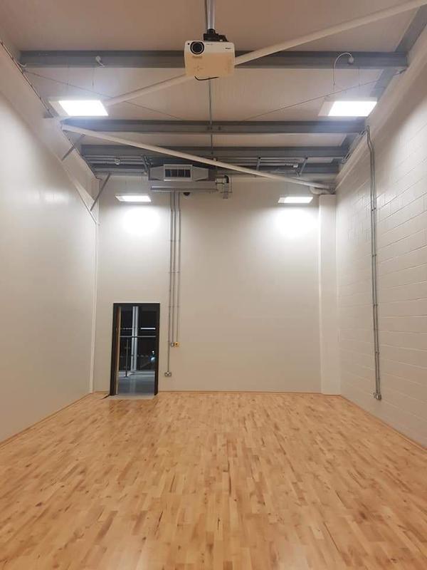 Image 21 - Dance studio lighting; power; fire alarm and AV installation.