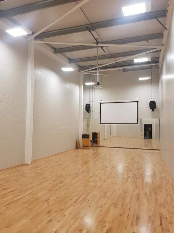 Image 22 - Dance studio lighting; power; fire alarm and AV installation.
