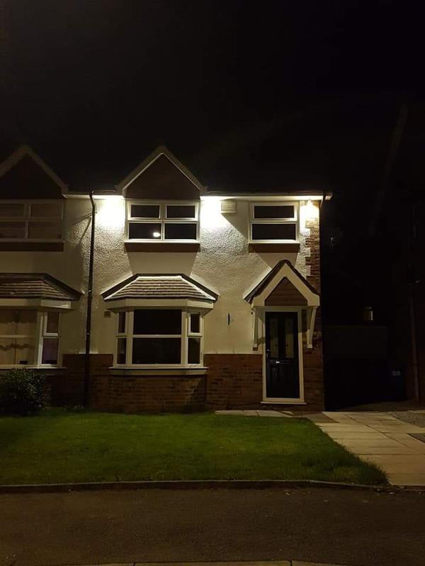 Image 33 - Outside feature lighting installed via day/night sensor.