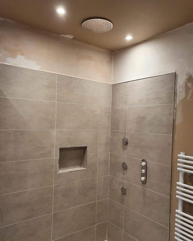 Image 57 - Installing ceiling shower head with body jet's, currently still in progress but looking nice.