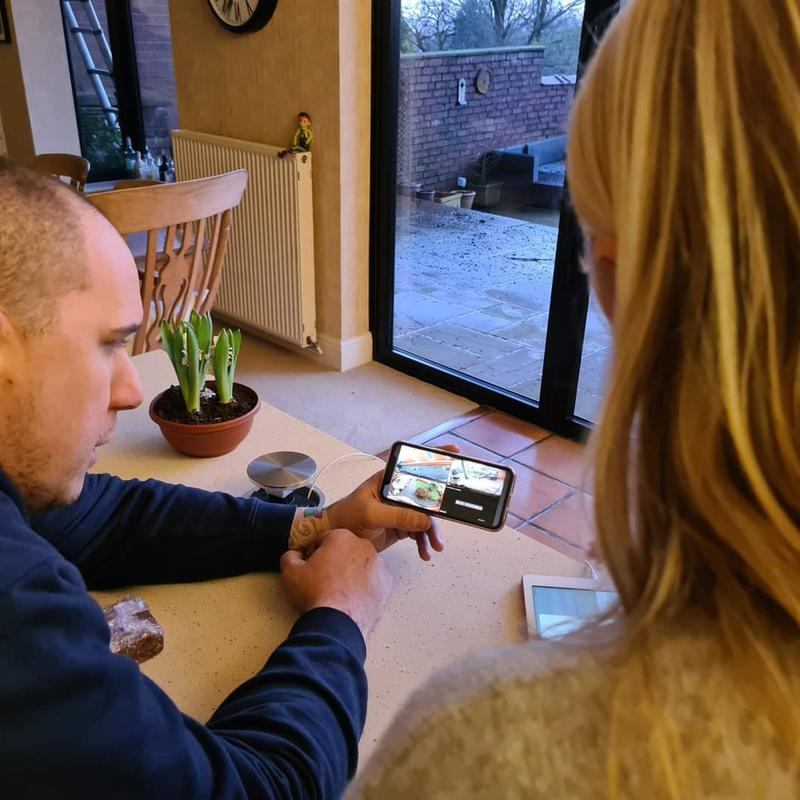Image 7 - Training our customers on there free mobile app
