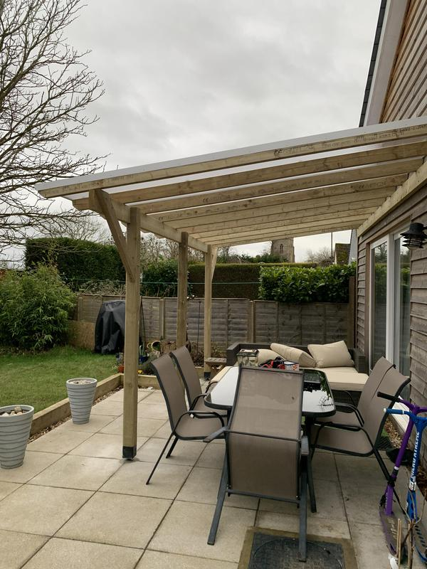 Image 4 - Patio canopy with Twinwall roofing to create all-weather cover.
