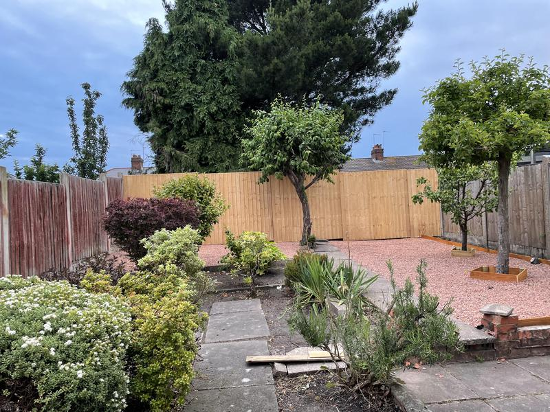 Image 12 - We also installed new fencing at the back of the garden, there wasn't any fencing there at the time.