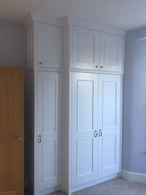 Image 26 - large ceiling height? Good. We can do bigger wardrobe then. Hand painted eggshell finish.