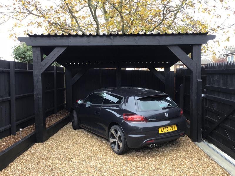 Image 14 - New car port erected