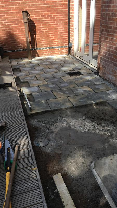 Image 207 - All our slabs are laid on a complete bed of wet concrete , they will not move and never allow any unwonted weeds to grow from underneath