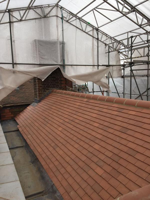 Image 30 - Re-Roof Using Clay Plain Tiles - Hampstead, London