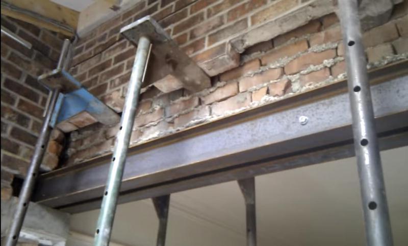 Image 22 - Steel beam installation.