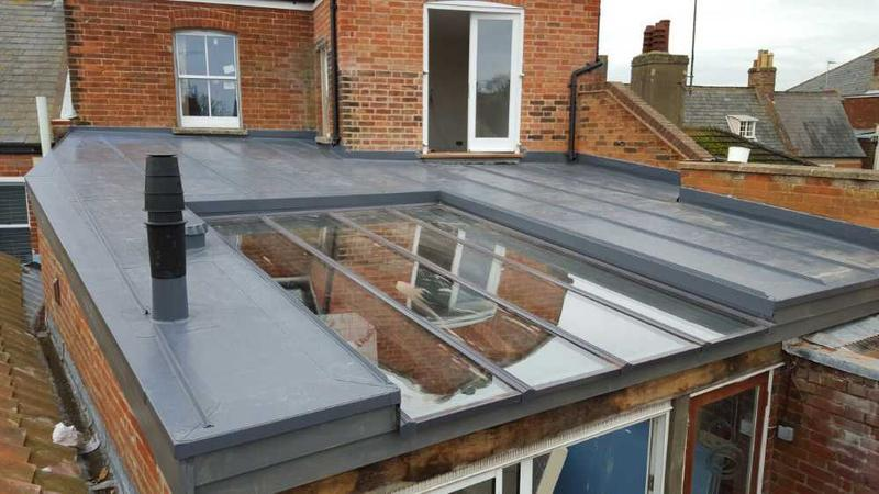 Image 2 - Extension roof with glazing insert.