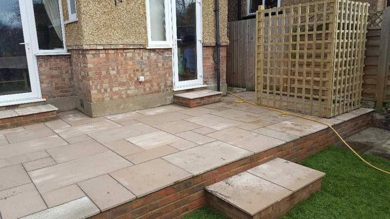 Image 14 - call completed smooth sandstone autumn Brown with steps