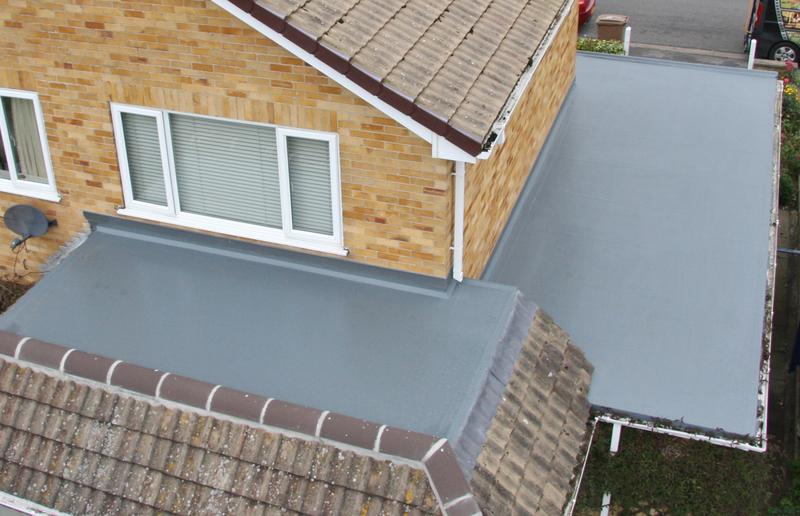 Image 24 - New Ridge Tiles & Flat Roof in GRP/Fibre Glass Roof 30 Year Guarantee