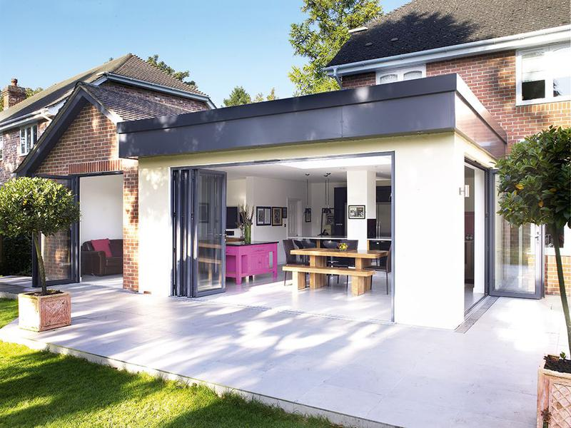 Image 9 - Single storey extension with bi fold doors and lantern roof lights