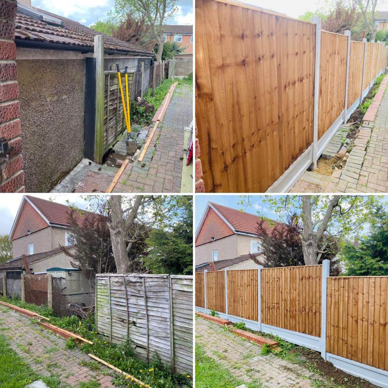 Image 1 - fencing project... Before & After..