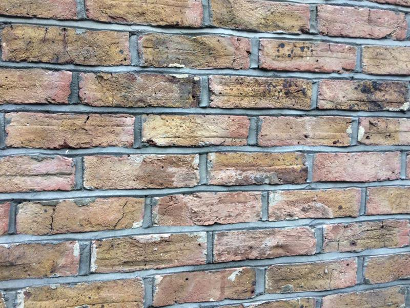 Image 47 - Weather struck pointing on handmade bricks Tarring