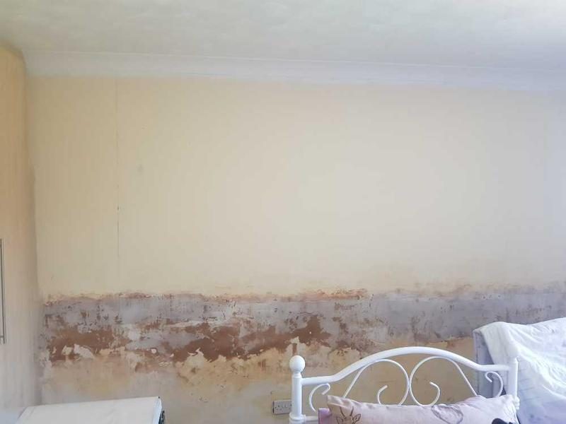 Image 1 - previous wallpaper removed by client as it was hung wrong and not straight