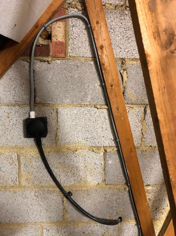 Image 8 - armoured cable to feed electric shower