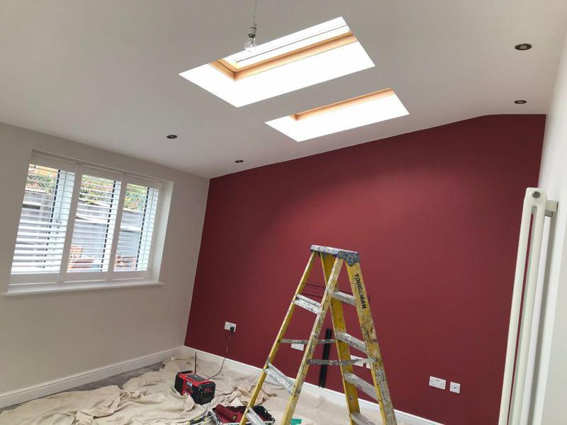 Image 39 - Extension in Stratford with feature painted wall.