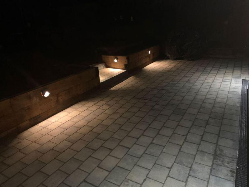 Image 20 - night time view of our patio installation