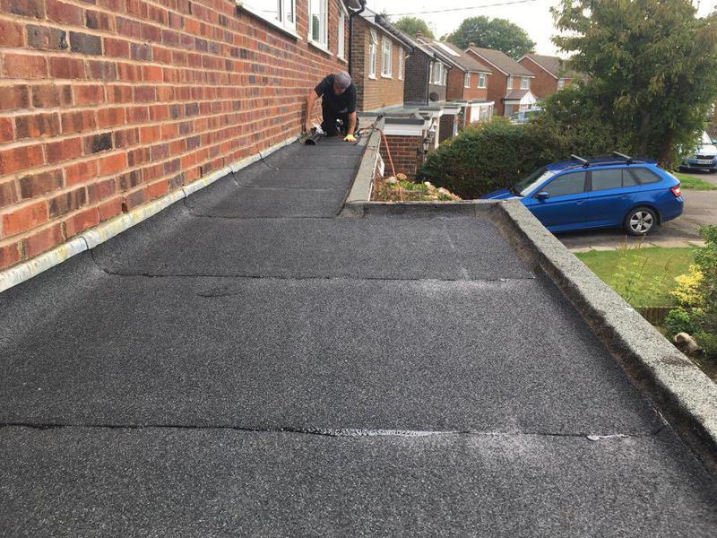 Image 21 - Re-felt Flat roof