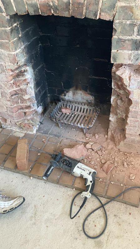Image 11 - Fireplace damaged bricks in ferring