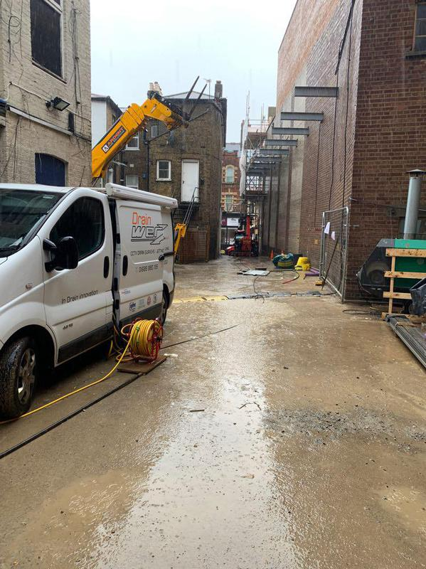 Image 40 - High pressure water jetting and drain survey for a groundworks company in Bromley