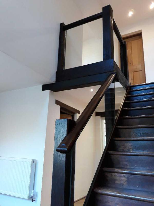 Image 30 - bespoke oak staircase/banisters/ newel posts and stain