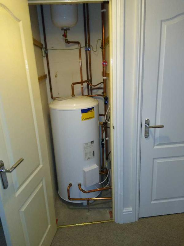 Image 4 - New unvented cylinder insterlation.