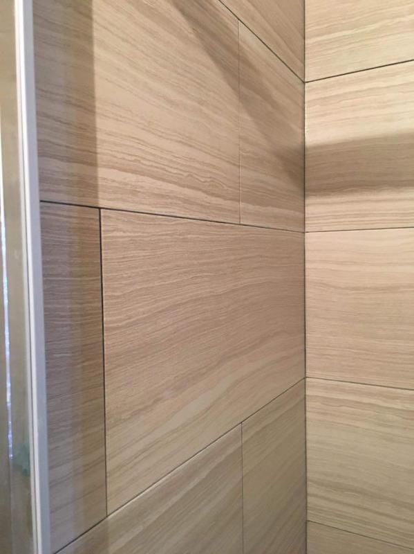 Image 37 - Newly tiled walls