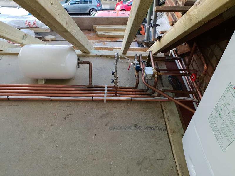 Image 6 - Boiler and horizontal unvented cylinder installation, Twickenham #2.
