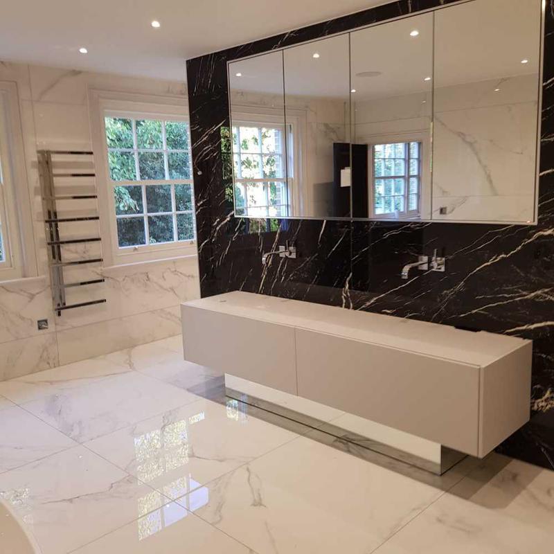 Image 22 - black on white master bathroom Ongar essex