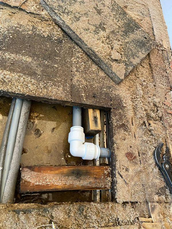 Image 6 - Repair on the pipework that was leaking for over a month