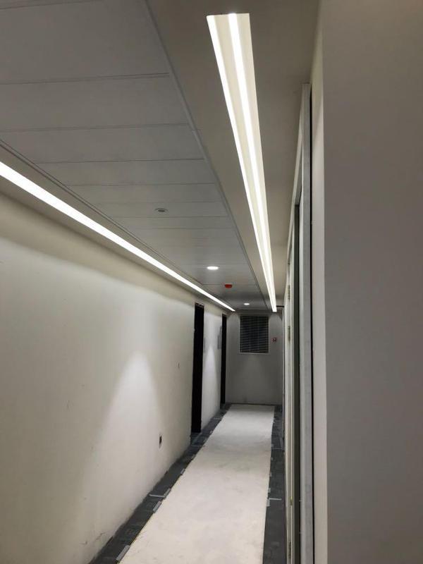 Image 35 - Corridor lighting instal in communal area.