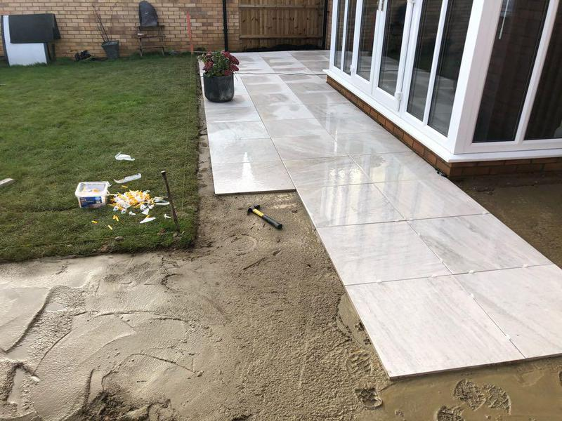 Image 12 - old patio pulled up, and new patio layed at a customers house