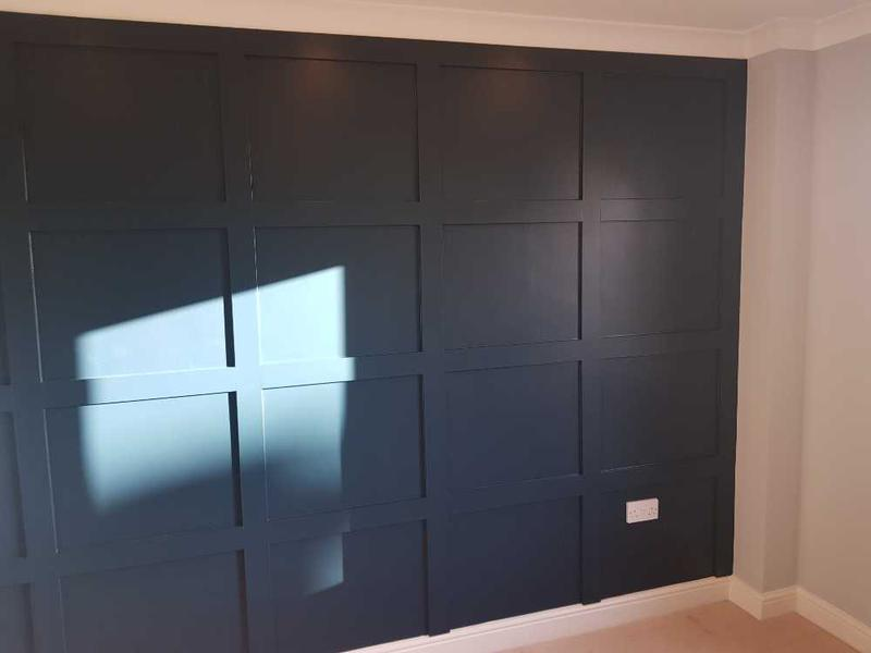 Image 89 - wood panels finished, feature wall