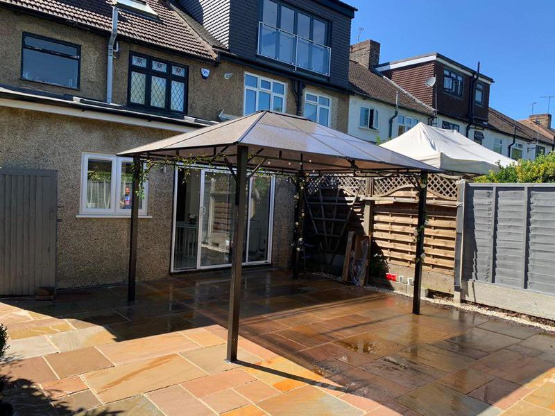 Image 20 - Kota Classic Indian Sandstone Paving & Gazebo erected and fitted