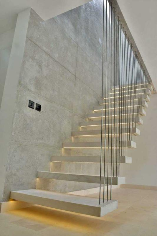 Image 6 - Unique, stylish, heavenly floating staircase in modern house in Great Houghton