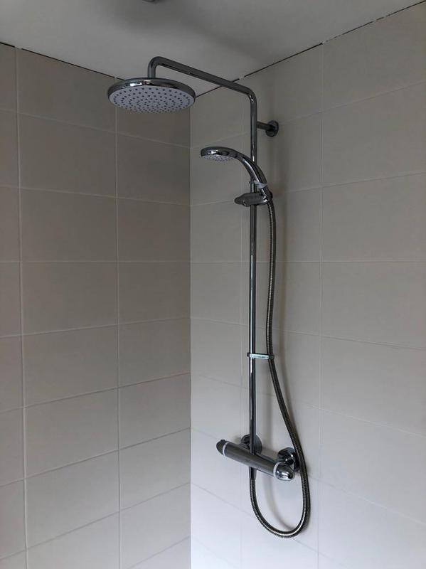 Image 19 - Multi shower unit had been put into this new bathroom instal.
