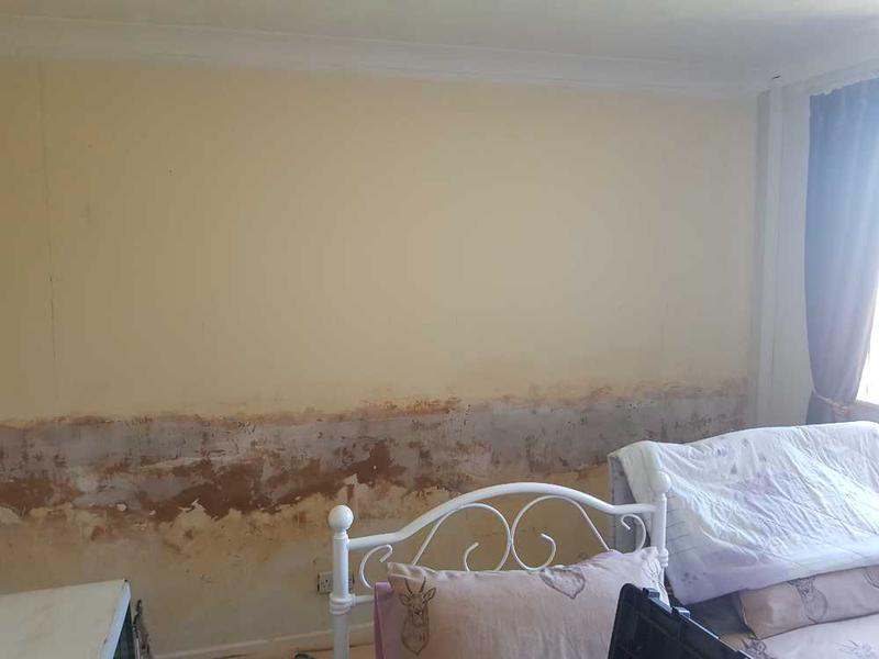 Image 2 - wallpaper removed by client as previous decorator hung wrong and wasn't straight.