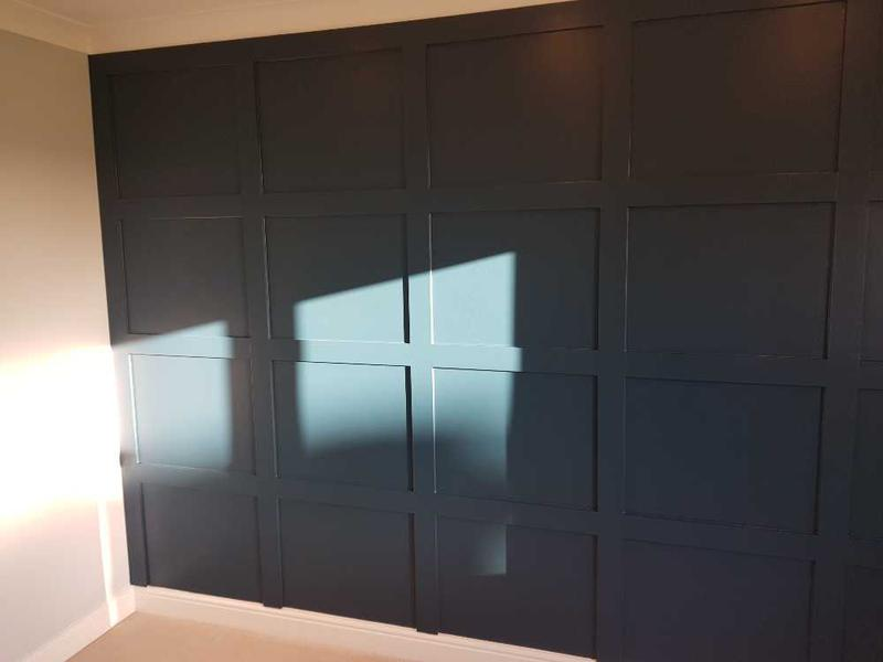 Image 90 - after, wood panels as a feature wall