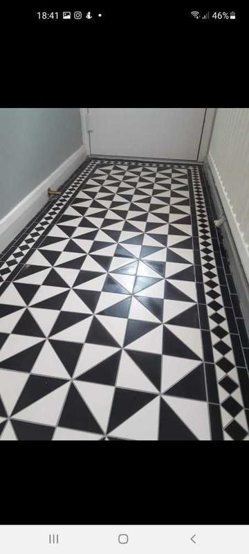 Image 20 - black and white victorian mosaic entrance hallway floor