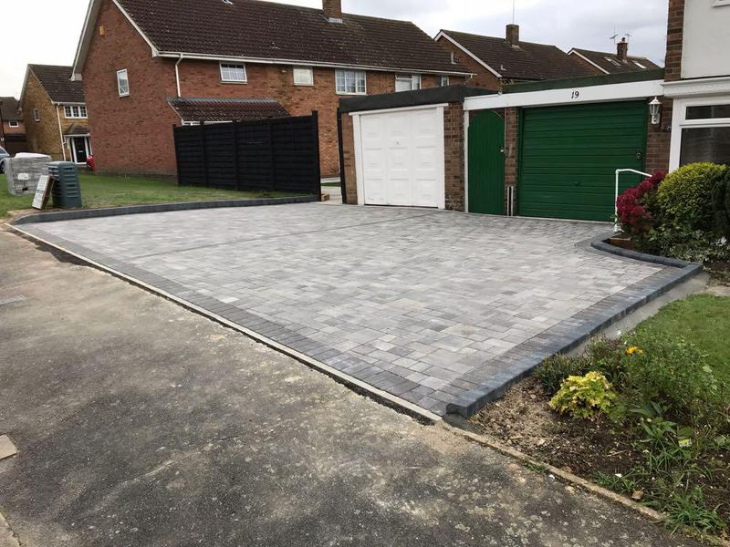 Image 78 - Block paving with KL key curbs in Harlow.