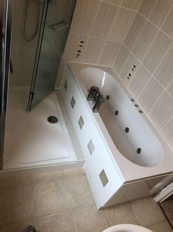 Image 9 - New jacuzzi bath and walk in shower with bifolding doors.