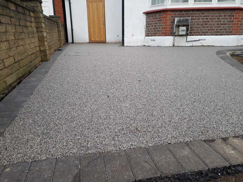 Image 13 - UV resin driveway with charcoal block edging London