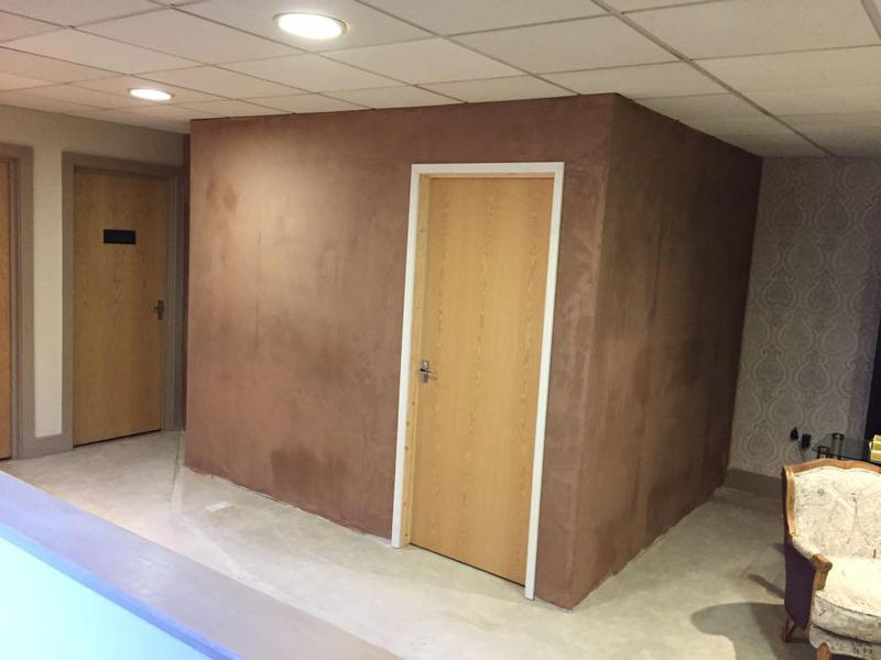 Image 5 - new beauty treatment room nearing completion in town. new panel lights fitted just ready for the decoration