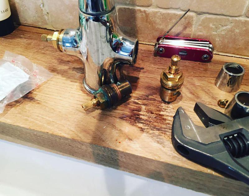 Image 24 - Handy Gentlemen repairing a kitchen tap Chelsea