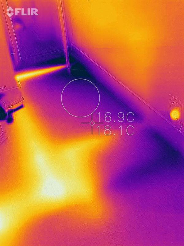 Image 28 - Finding a hidden leak under the floor with a thermal imagery camera