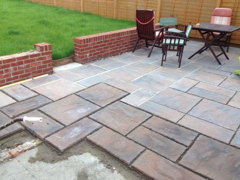 Image 51 - Thakeham slab patio build Findon