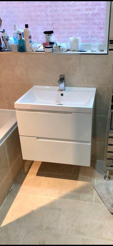 Image 15 - We replaced a old bathroom sink for this new stylish Wall hung vanity unit.